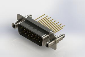 627-M15-323-BN6 - Vertical Machined D-Sub Connectors