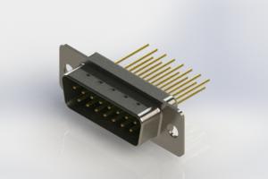 627-M15-323-GN1 - Vertical Machined D-Sub Connectors