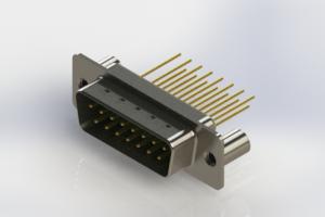 627-M15-323-GN3 - Vertical Machined D-Sub Connectors