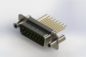 627-M15-323-GN4 - Vertical Machined D-Sub Connectors