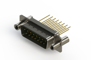 627-M15-323-GT4 - Vertical Machined D-Sub Connectors