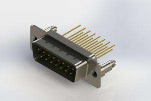 627-M15-323-GT5 - Vertical Machined D-Sub Connectors