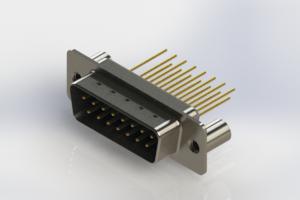 627-M15-323-LN3 - Vertical Machined D-Sub Connectors