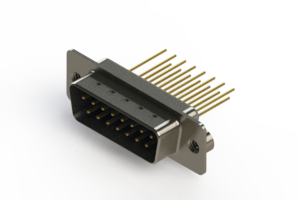 627-M15-323-LT2 - Vertical Machined D-Sub Connectors