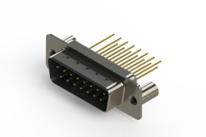 627-M15-323-LT3 - Vertical Machined D-Sub Connectors