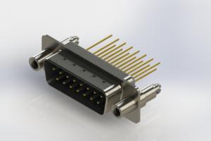 627-M15-323-LT6 - Vertical Machined D-Sub Connectors