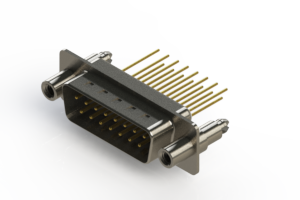 627-M15-323-WN6 - Vertical Machined D-Sub Connectors