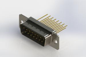 627-M15-323-WT1 - Vertical Machined D-Sub Connectors