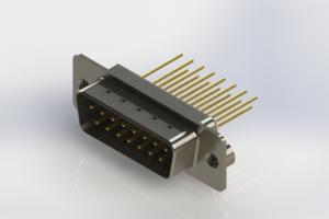 627-M15-323-WT2 - Vertical Machined D-Sub Connectors
