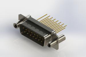 627-M15-323-WT4 - Vertical Machined D-Sub Connectors