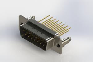 627-M15-323-WT5 - Vertical Machined D-Sub Connectors