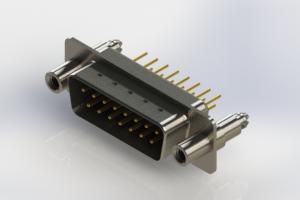 627-M15-620-BT6 - Vertical Machined D-Sub Connectors