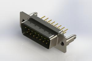 627-M15-620-GN5 - Vertical Machined D-Sub Connectors