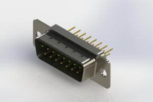 627-M15-620-GT1 - Vertical Machined D-Sub Connectors