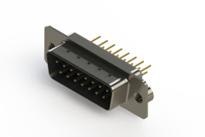 627-M15-620-LN2 - Vertical Machined D-Sub Connectors