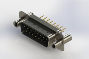 627-M15-620-LT4 - Vertical Machined D-Sub Connectors