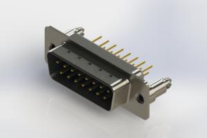 627-M15-620-LT5 - Vertical Machined D-Sub Connectors