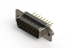 627-M15-620-WN2 - Vertical Machined D-Sub Connectors