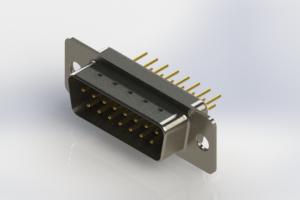 627-M15-620-WT1 - Vertical Machined D-Sub Connectors