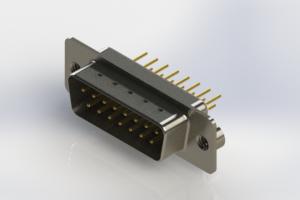 627-M15-620-WT2 - Vertical Machined D-Sub Connectors