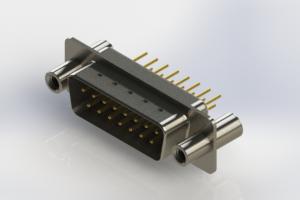 627-M15-620-WT4 - Vertical Machined D-Sub Connectors