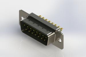 627-M15-622-GN1 - Vertical Machined D-Sub Connectors