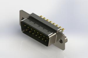 627-M15-622-GN2 - Vertical Machined D-Sub Connectors