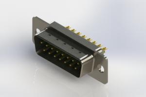 627-M15-622-GT1 - Vertical Machined D-Sub Connectors