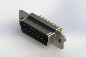 627-M15-622-LT2 - Vertical Machined D-Sub Connectors