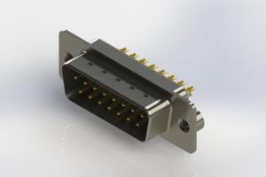 627-M15-622-WT2 - Vertical Machined D-Sub Connectors