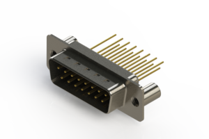 627-M15-623-BN3 - Vertical Machined D-Sub Connectors