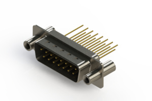 627-M15-623-BN4 - Vertical Machined D-Sub Connectors
