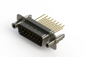 627-M15-623-BN6 - Vertical Machined D-Sub Connectors