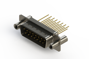 627-M15-623-BT4 - Vertical Machined D-Sub Connectors