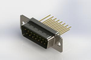 627-M15-623-GN1 - Vertical Machined D-Sub Connectors