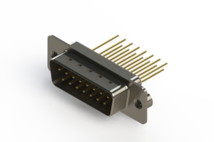 627-M15-623-WN2 - Vertical Machined D-Sub Connectors
