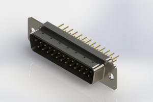 627-M25-220-BN1 - Vertical Machined D-Sub Connectors