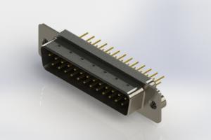 627-M25-220-BN2 - Vertical Machined D-Sub Connectors
