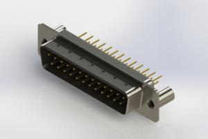 627-M25-220-BN3 - Vertical Machined D-Sub Connectors