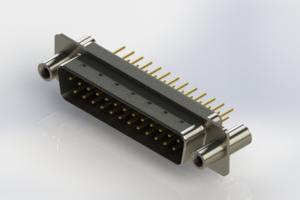 627-M25-220-BN4 - Vertical Machined D-Sub Connectors