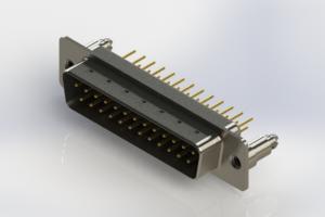 627-M25-220-BN5 - Vertical Machined D-Sub Connectors
