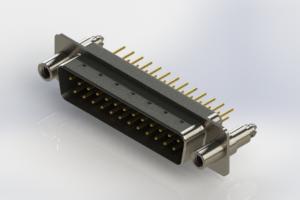 627-M25-220-BN6 - Vertical Machined D-Sub Connectors