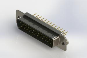 627-M25-220-GT2 - Vertical Machined D-Sub Connectors
