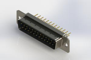627-M25-220-LN1 - Vertical Machined D-Sub Connectors