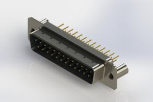 627-M25-220-LN3 - Vertical Machined D-Sub Connectors