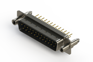 627-M25-220-LN6 - Vertical Machined D-Sub Connectors