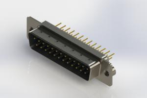 627-M25-220-LT2 - Vertical Machined D-Sub Connectors