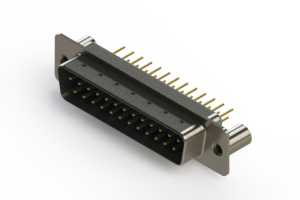 627-M25-220-LT3 - Vertical Machined D-Sub Connectors