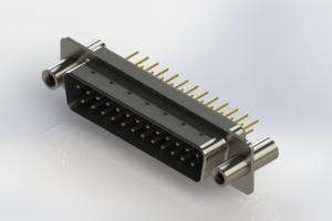 627-M25-220-LT4 - Vertical Machined D-Sub Connectors