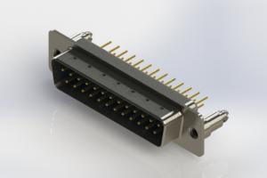 627-M25-220-LT5 - Vertical Machined D-Sub Connectors